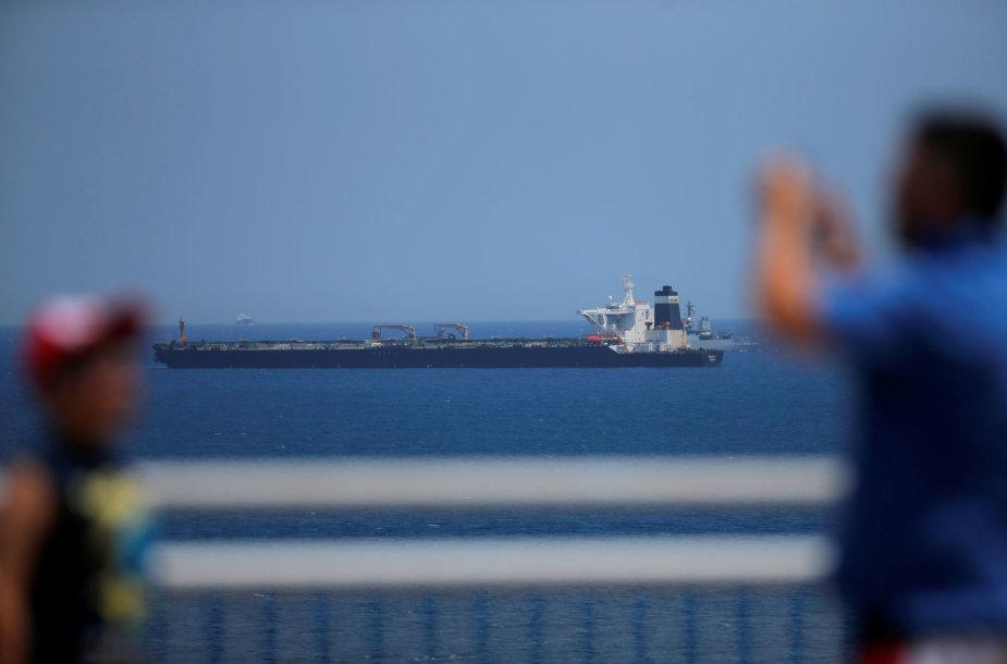 Gibraltare sulaikytas Irano tanklaivis