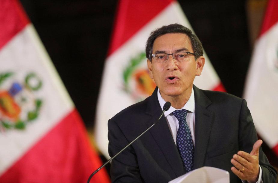 Peru prezidentas Martinas Vizcarra