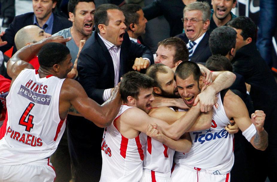 """Pirėjo """"Olympiakos"""" švenčia Eurolygos titulą"""