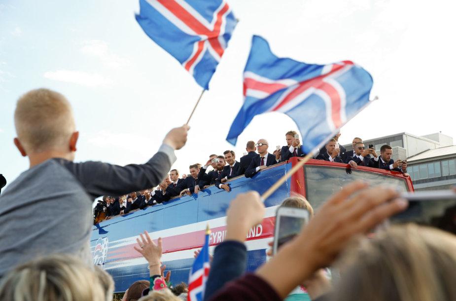 Islandijos rinktinės sutikimas