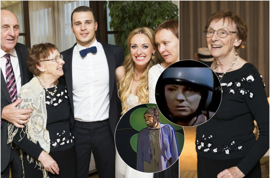 Baiba Skurstene-Serdiukė su šeima ir močiute Velta Skurstene