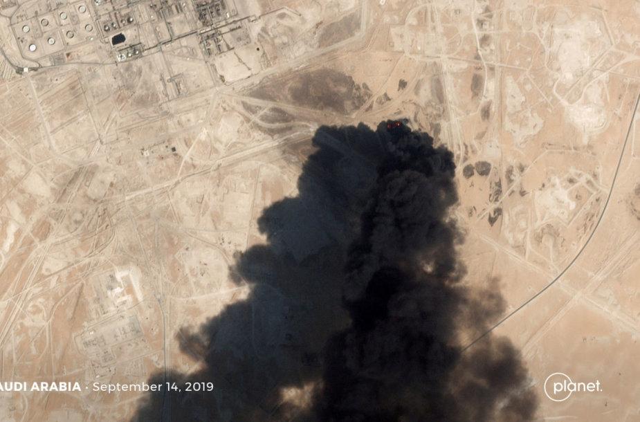 Atakuotas naftos gavybos objektas Saudo Arabijoje