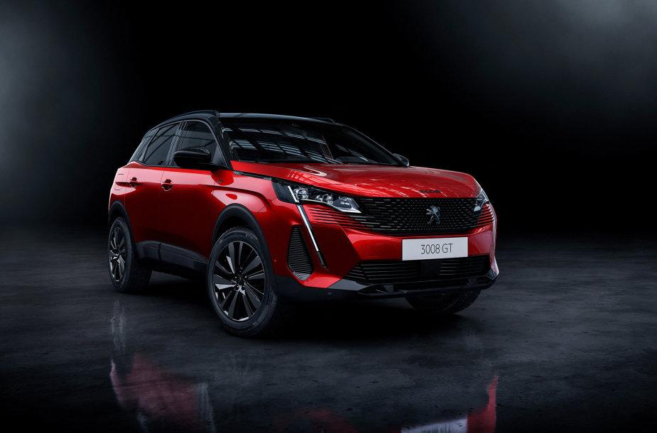"""Naujasis """"Peugeot 3008"""" (2020 m.)"""