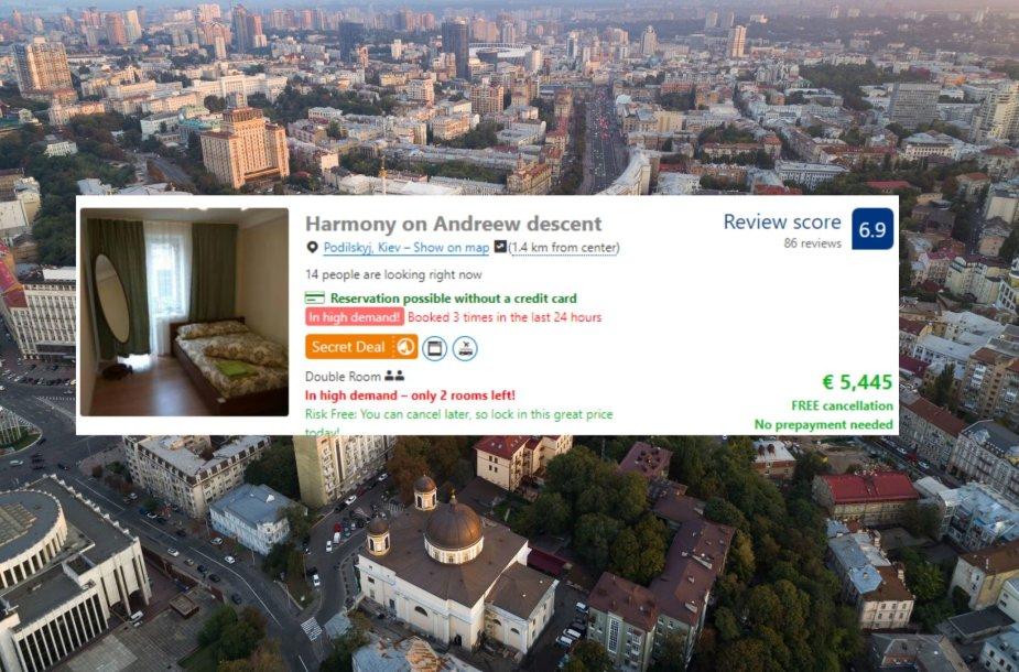 Nakvynės kainos Kijeve