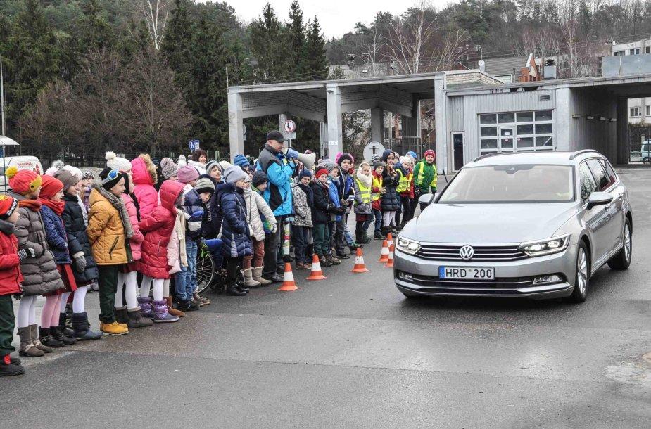 Saugaus eismo akcija pradinukams Kaune