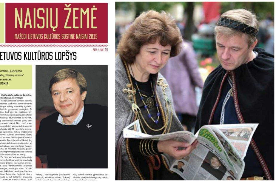 """2015 m. """"Naisių žemės"""" viršelis labai primena 2013-aisiais R.Baškienės ir R.Karbauskio vartyto """"Už žemę ir žmogų"""" pirmąjį puslapį"""