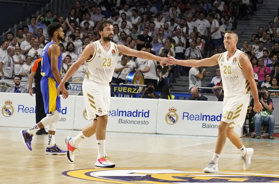 """Madrido """"Real"""" – Tel Avivo """"Maccabi"""" rungtynių akimirka."""