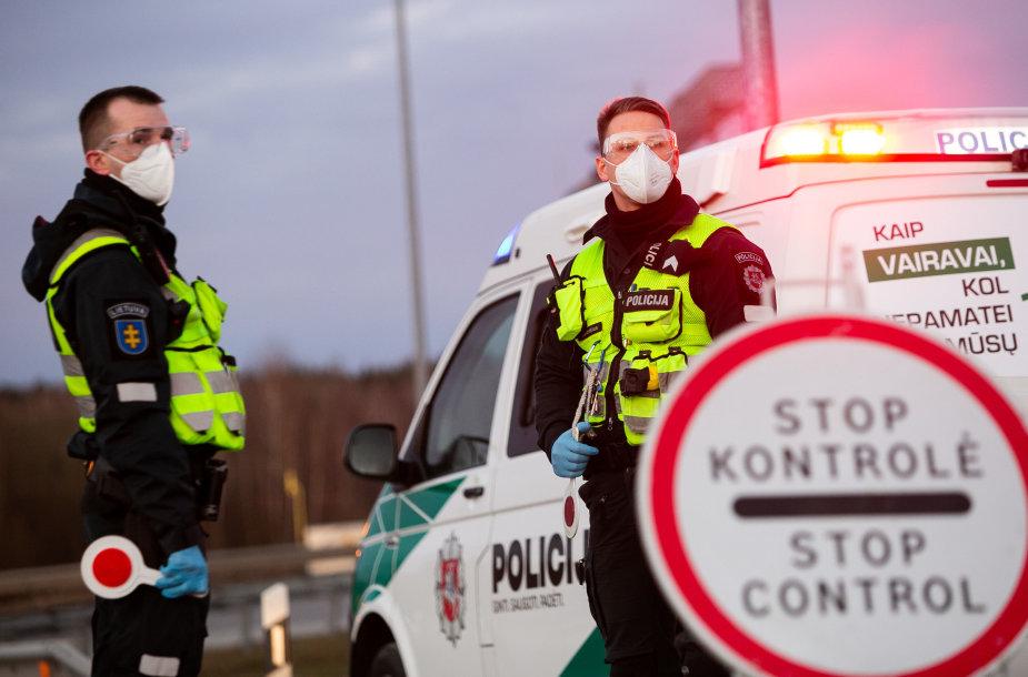 Policijos kontrolės postas Molėtų plente