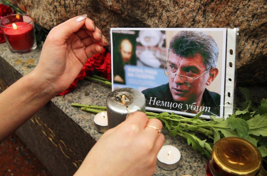Maskva gedi nužudyto opozicijos lyderio Boriso Nemcovo