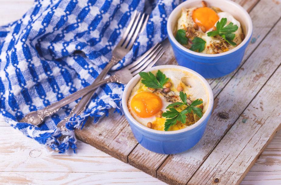 Indeliuose kepti kiaušiniai