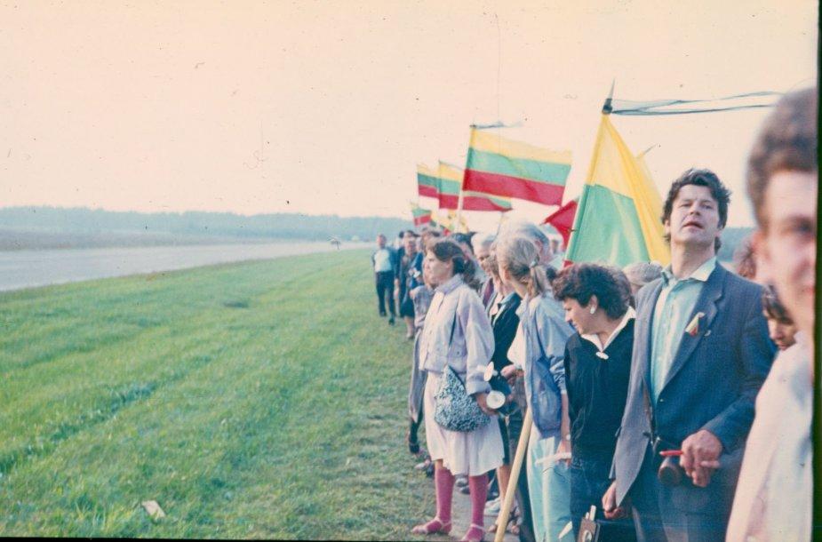 Baltijos kelias: atsiuntė Gintaras Baliukonis