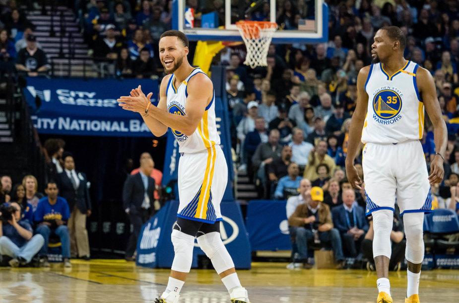 Stephenas Curry ir Kevinas Durantas