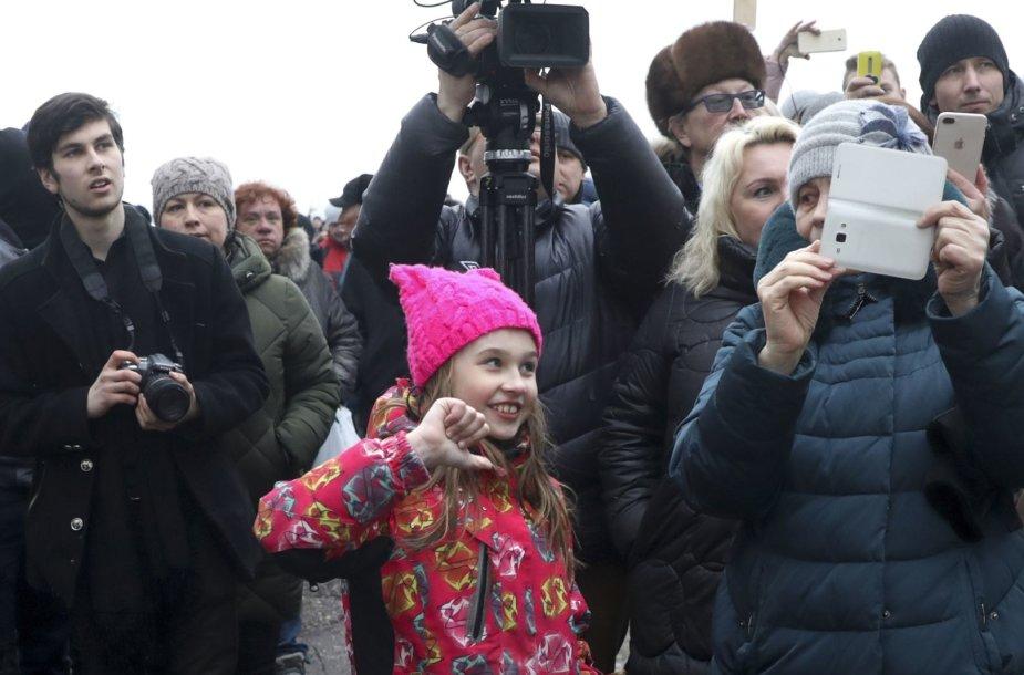 Pamaskvėje vyko protestas dėl pavojingos taršos iš regioninio sąvartyno