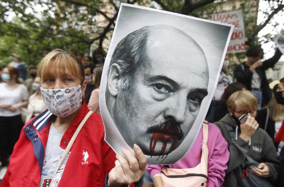 Protestas prieš Aliaksandrą Lukašenką