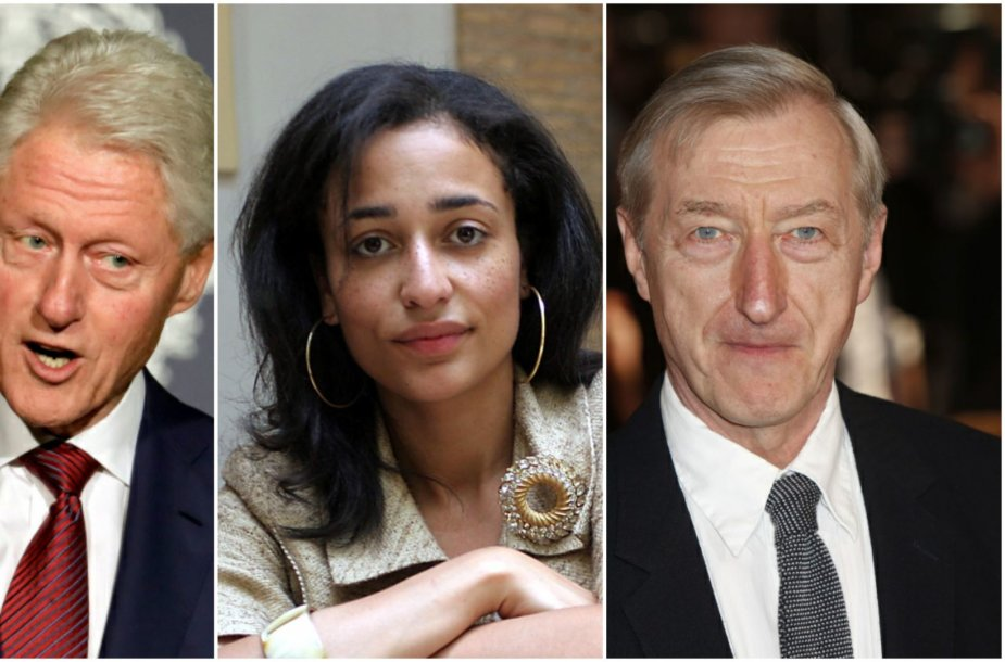 Billas Clintonas, Zadie Smith ir Julianas Barnesas