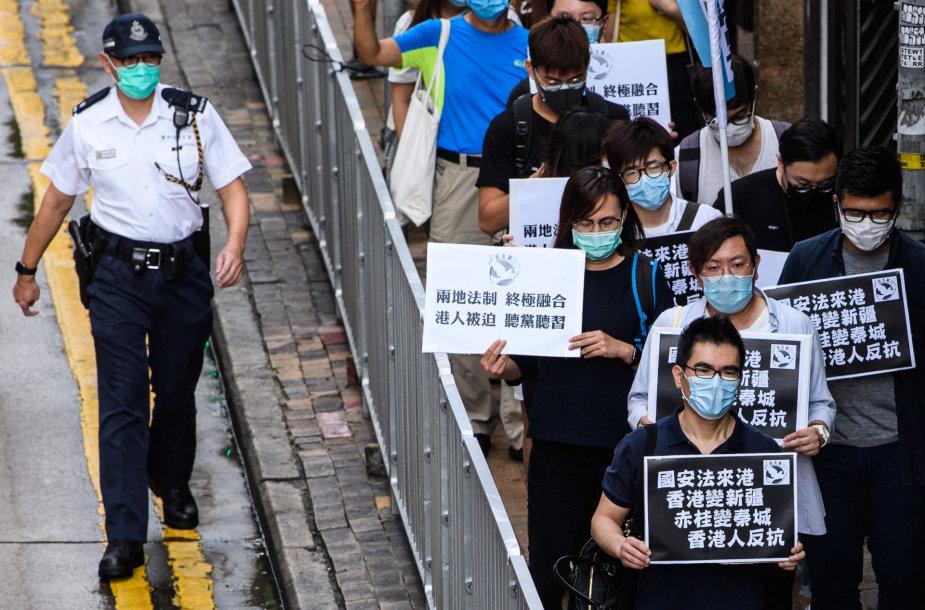 Protestas Honkonge prieš nacionalinio saugumo įstatymą