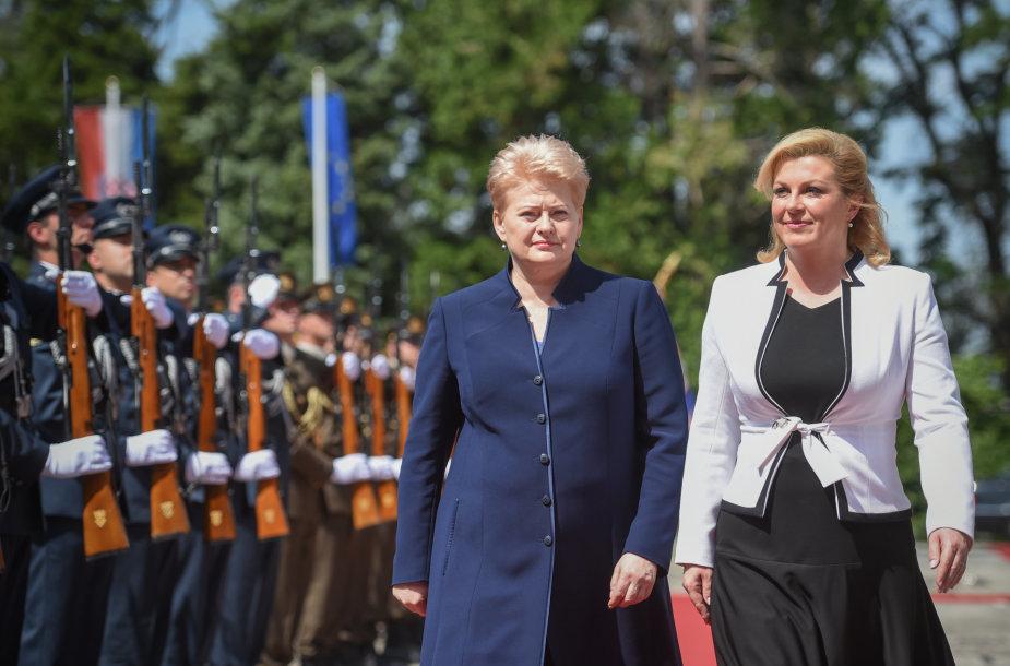 Prezidentė susitinka su naująja Kroatijos Prezidente Kolinda Grabar-Kitarovič