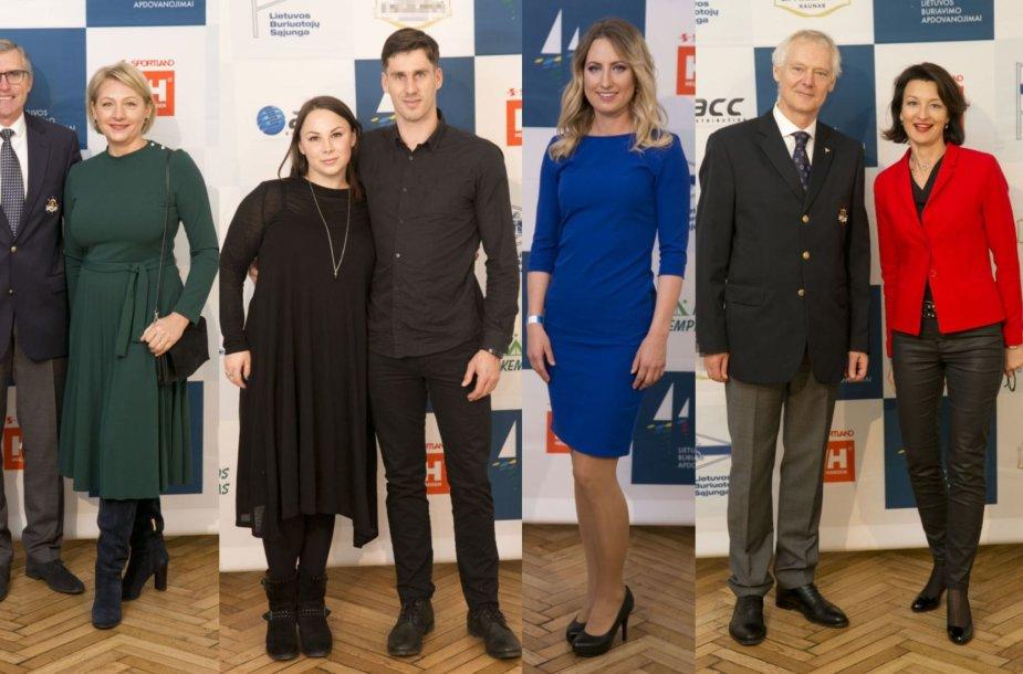Rolandas Žentelis su šeima, Juozas Bernotas su žmona, Viktorija Andrulytė, Naglis Nasvytis ir Dalia Henkė