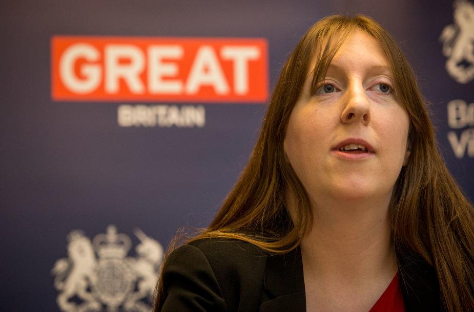 Jungtinės Karalystės ambasadorė Lietuvoje Claire Louise Lawrence
