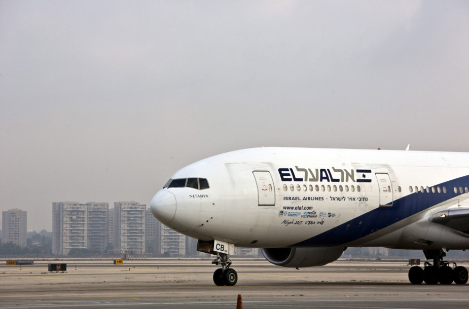 """El Al"" avialinijų lėktuvas Ben Guriono tarptautiniame oro uoste"