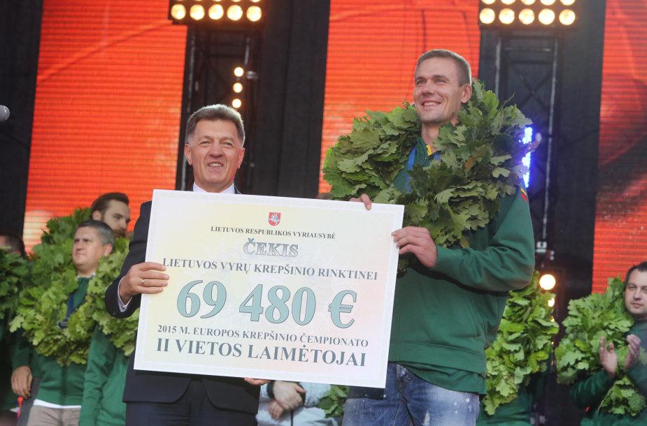 Algirdas Butkevičius ir Robertas Javtokas