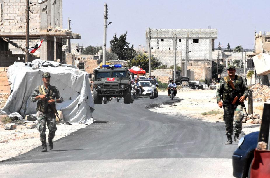 Sirijos ir Rusijos kariai Idlibo provincijoje