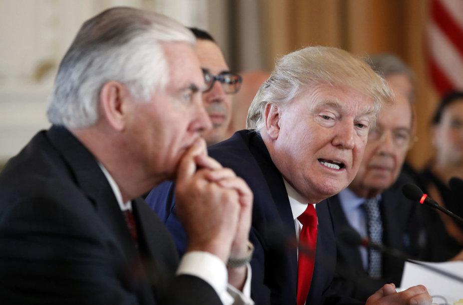 Rexas Tillersonas ir Donaldas Trumpas