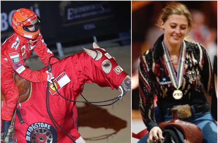 M.Schumacherio dukra Gina Maria taip pagerbė savo tėvą.