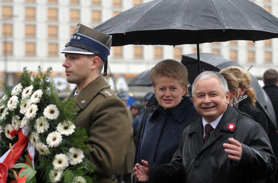 Dalia Grybauskaitė ir Lechas Kaczynskis