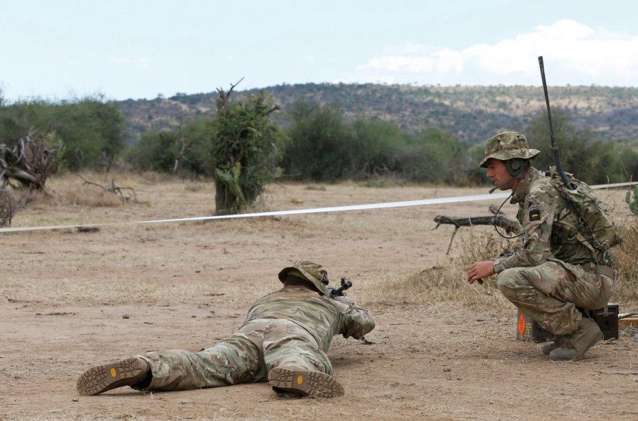 Britų karinė stovykla Kenijoje