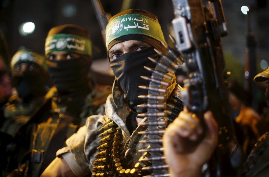 """""""Hamas"""" karių prieš Izraelį nukreiptas mitingas"""