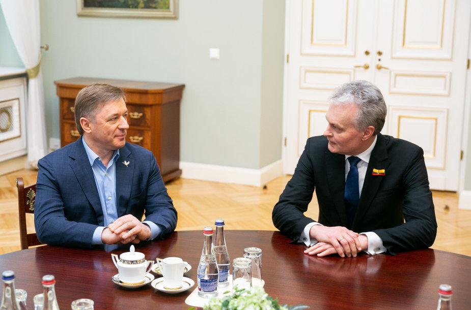 Ramūnas Karbauskis ir Gitanas Nausėda