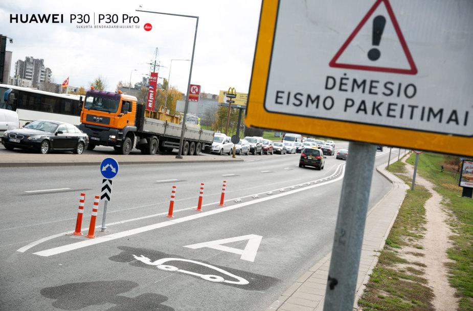 A juosta Ukmergės gatvėje, Vilniuje