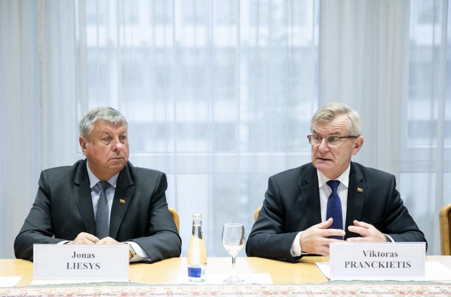 Jonas Liesys, Viktoras Pranckietis