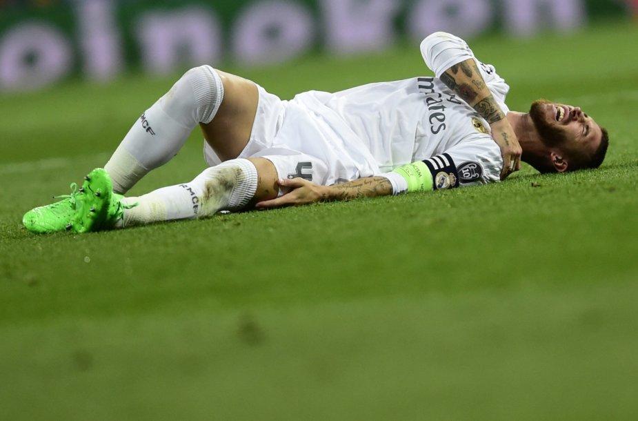 Petį susižaidęs Sergio Ramosas šiemet nebežais