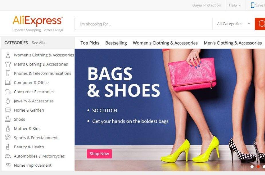 """Interneto parduotuvė """"AliExpress"""""""