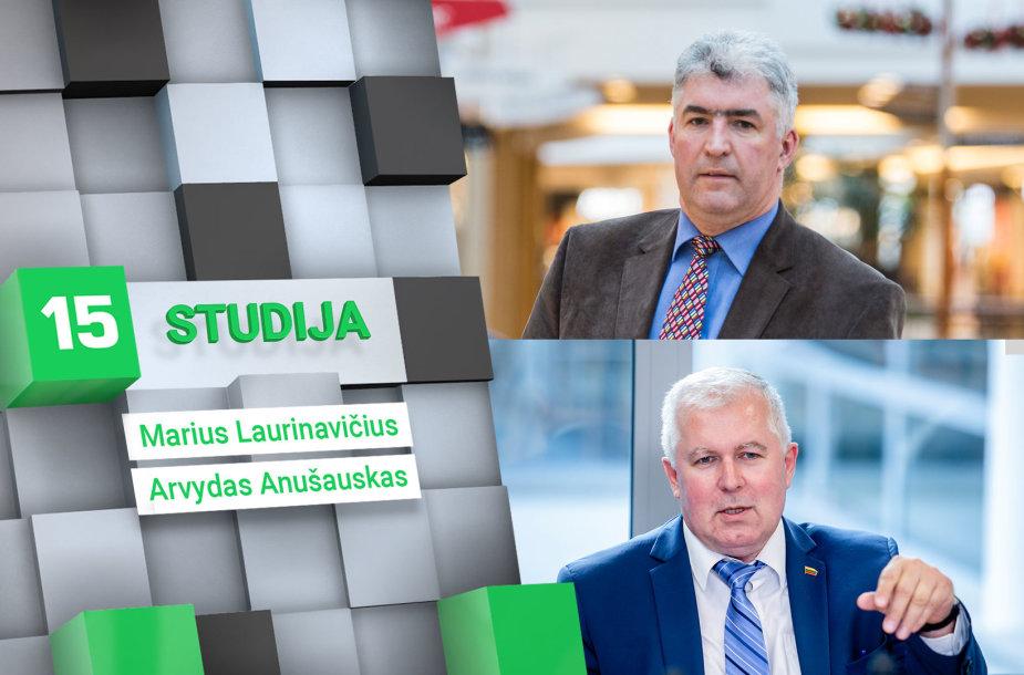 15min studijoje – Marius Laurinavičius ir Arvydas Anušauskas