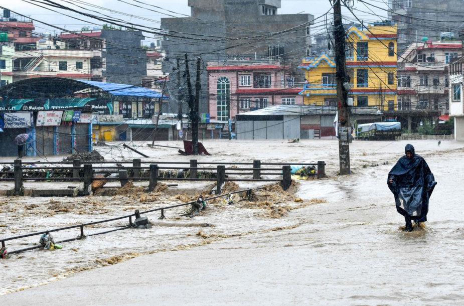 Potvynis Nepale