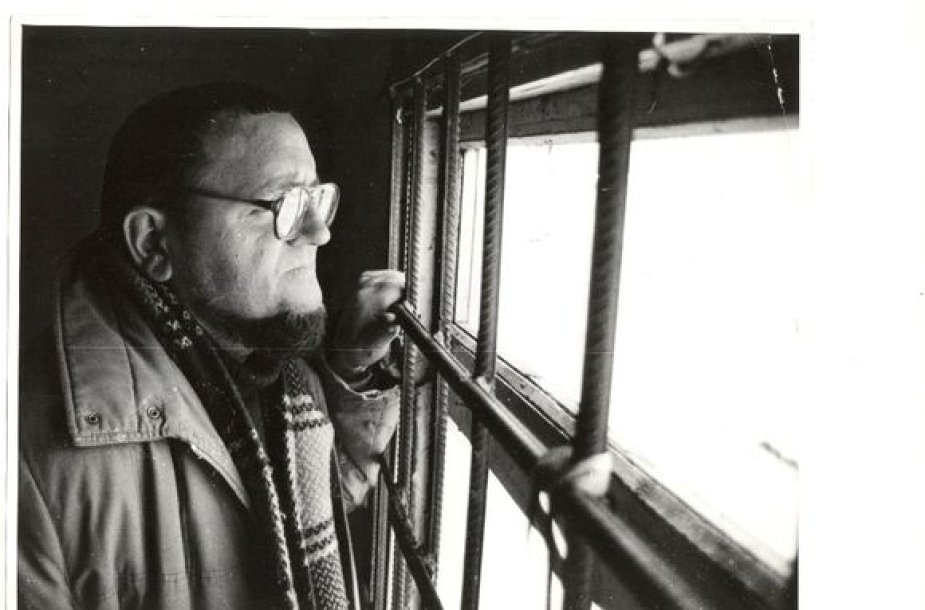 Skirmantas Valiulis badautojų namelyje 1991 m.