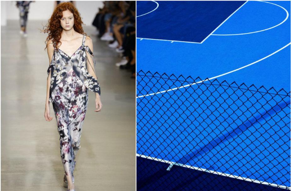 """""""Calvin Klein"""" 2016 m. pavasario-vasaros kolekcijos modelis/Fabrizio Raschetti nuotrauka """"Blue Court"""""""