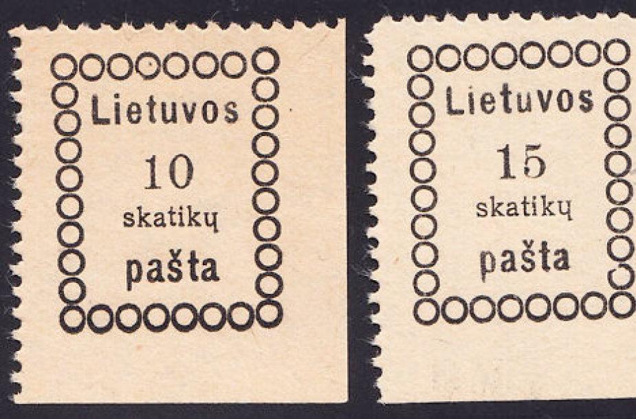 Pirmeji Lietuvos pašto ženklai