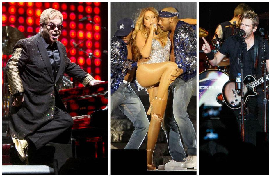 2016 metais Lietuvoje koncertavusios pasaulio muzikos žvaigždės