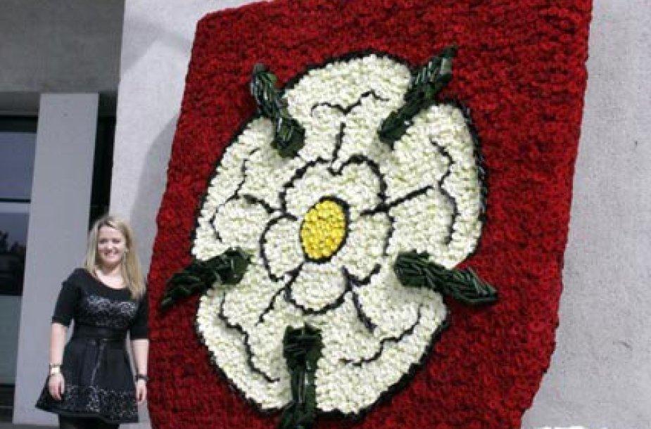 Alytaus herbas iš gėlių