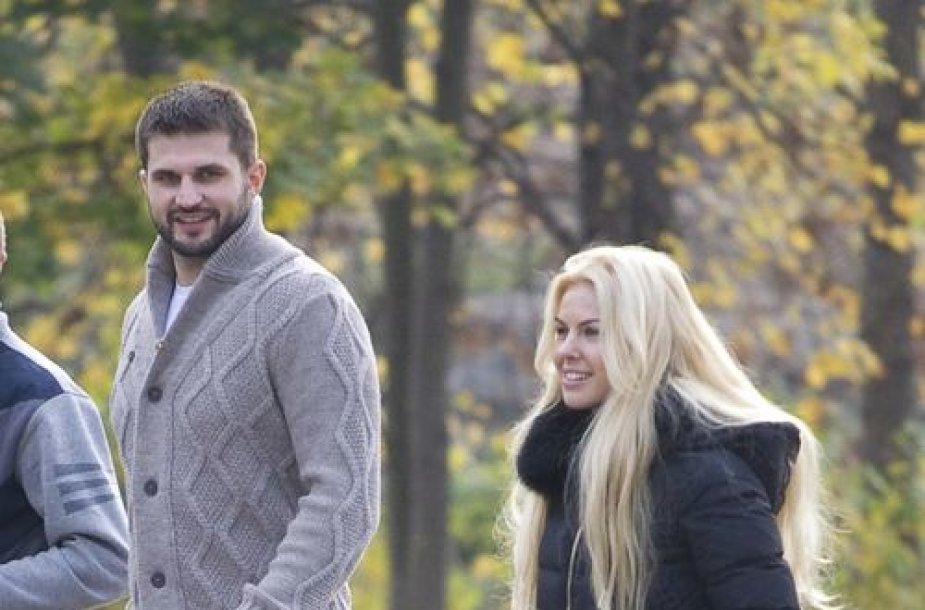 Linas Kleiza ir Agneta Karalevičiūtė