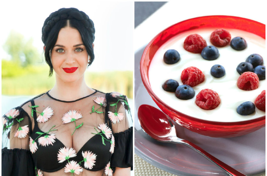 Kate Perry dažnai valgo jogurtą