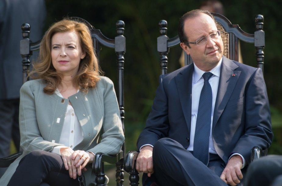 Valerie Trierweiler ir Francois Hollande'as