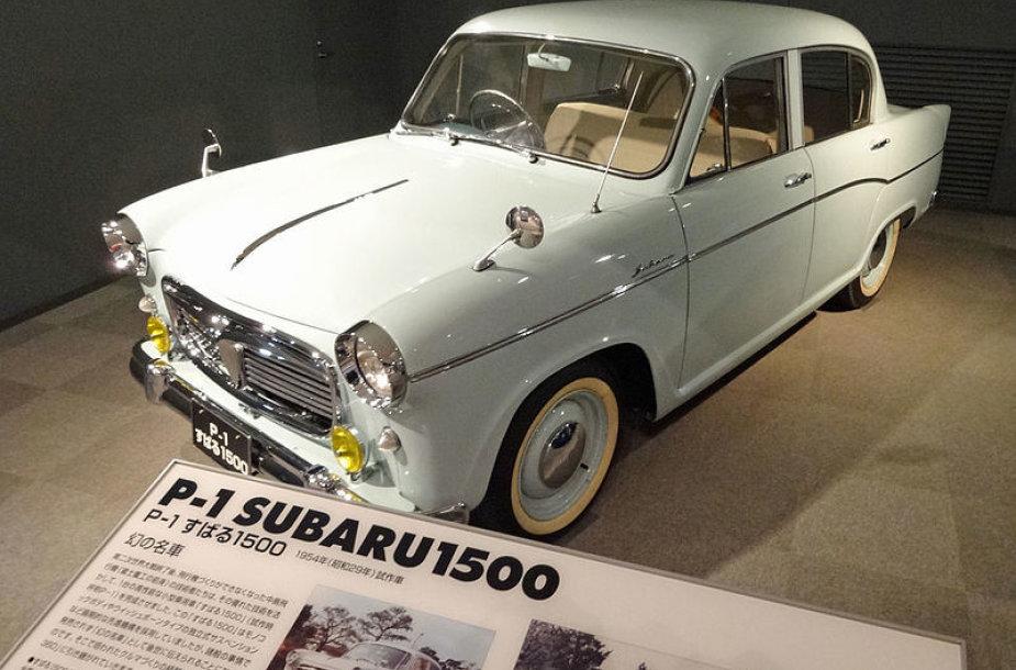 Subaru 1500 buvo nedidelis keturių durų sedanas. (PekePON, Wikimedia(CC BY-SA 4.0)