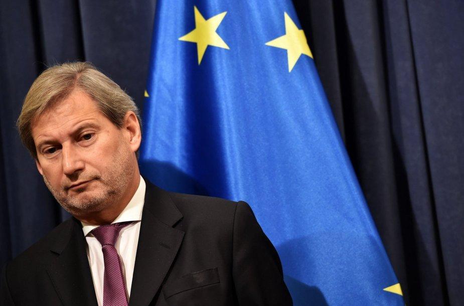 Europos Komisijos įgaliotinis plėtros klausimams Johannesas Hahnas
