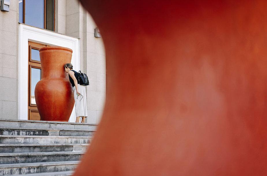 Akimirka iš Kauno bienalės ekskursijos