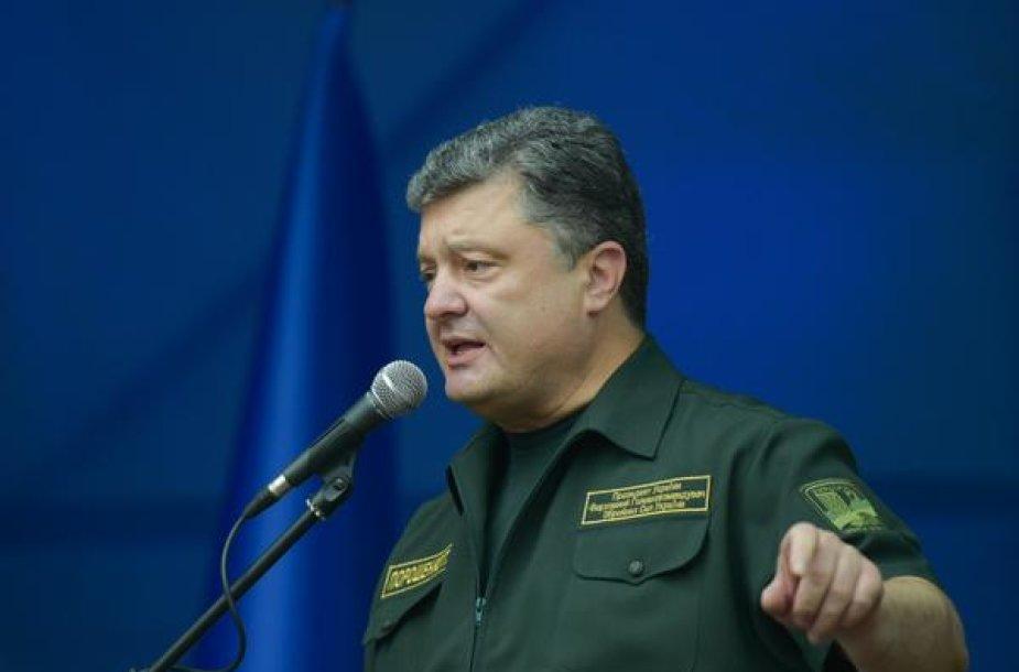 Petro Porošenka Rusijos armijos puolamame Mariupolyje